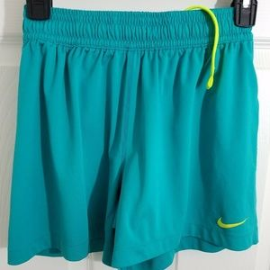 NIKE Womens XS Athletic Shorts Dri-Fit Teal
